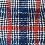 Model Horse Blanket, Red, White And Blue Plaid