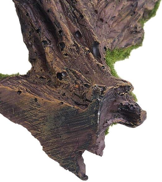 Serbatoio di Pesce SottAcqua Tronco dalbero Cavo Grotta di gamberetti Che nasconde lornamento del Riparo HEEPDD Decorazione in Legno Galleggiante in Resina Artificiale per Acquario B