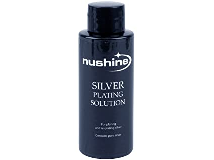 Nushine Silver Plating Solution 100ml - permanently plate PURE SILVER onto  worn silver, brass, copper and bronze (eco friendly formula)
