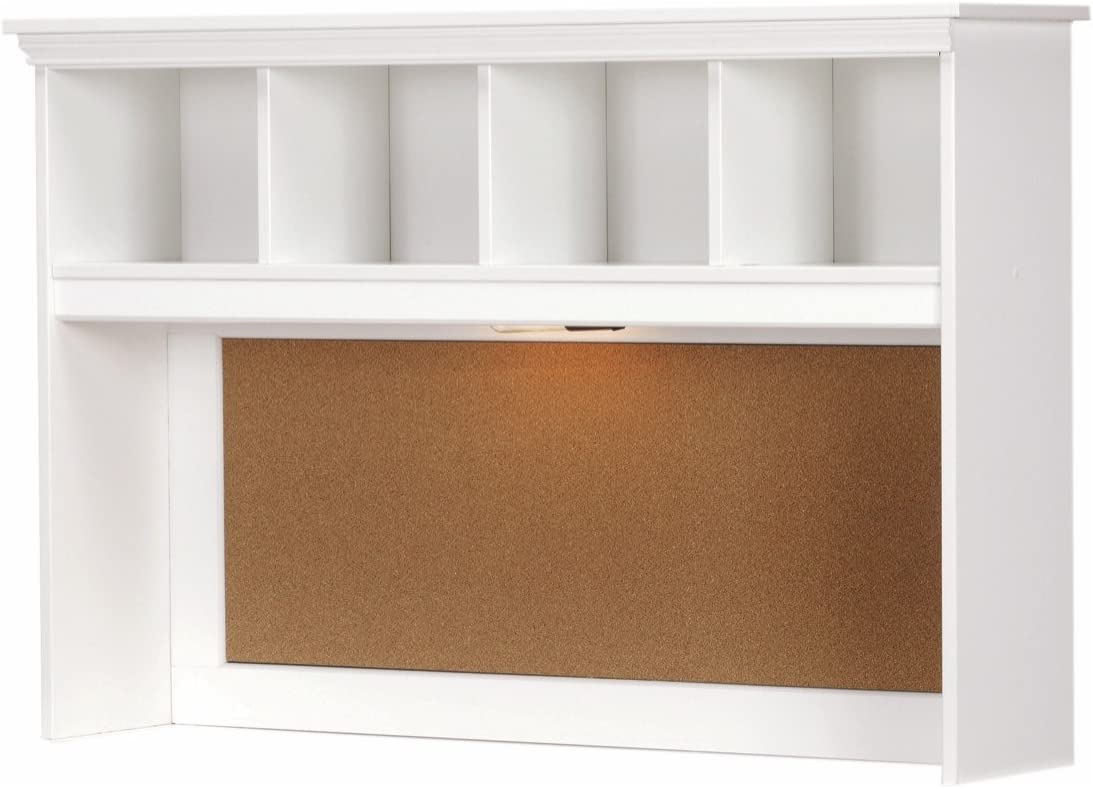 Lang Furniture Madison Desk Hutch with Light Black 12 by 45 by 30-Inch