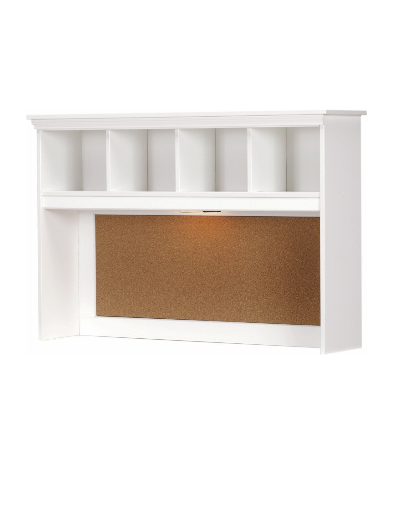Lang Furniture Madison Desk Hutch with Light, 12 by 45 by 30-Inch, White