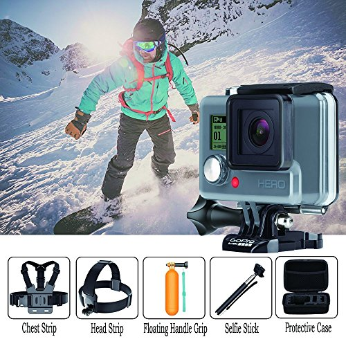 Navitech 8-in-1 Action Camera Accessories Combo Kit Compatible with The AKASO EK7000 Action Camera