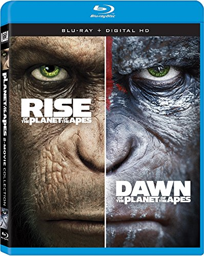 Blu-ray : Rise of the Planet of the Apes / Dawn of the Planet of the Apes (Widescreen, , Dolby, AC-3, Digital Theater System)