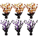 6-Piece Set of Halloween Centerpiece Decorations - Centerpiece Coffee Table Decorations, Dining Table Decorations for Haunted House Events, Spooky Halloween Decor, Orange and Purple