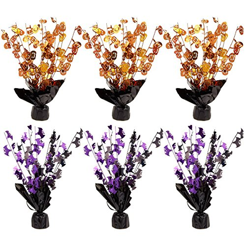 Halloween Event 07 (6-Piece Set of Halloween Centerpiece Decorations - Centerpiece Coffee Table Decorations, Dining Table Decorations for Haunted House Events, Spooky Halloween Decor, Orange and)