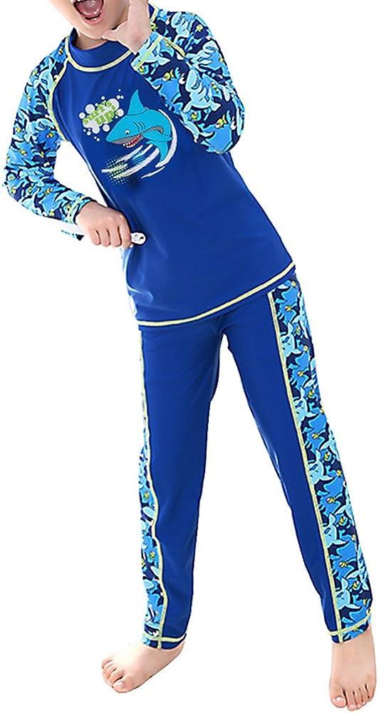 UV Sun Protective 2PCS Swimwear Short//Long Sleeve TFJH E Kids Boys Swimsuit UPF 50