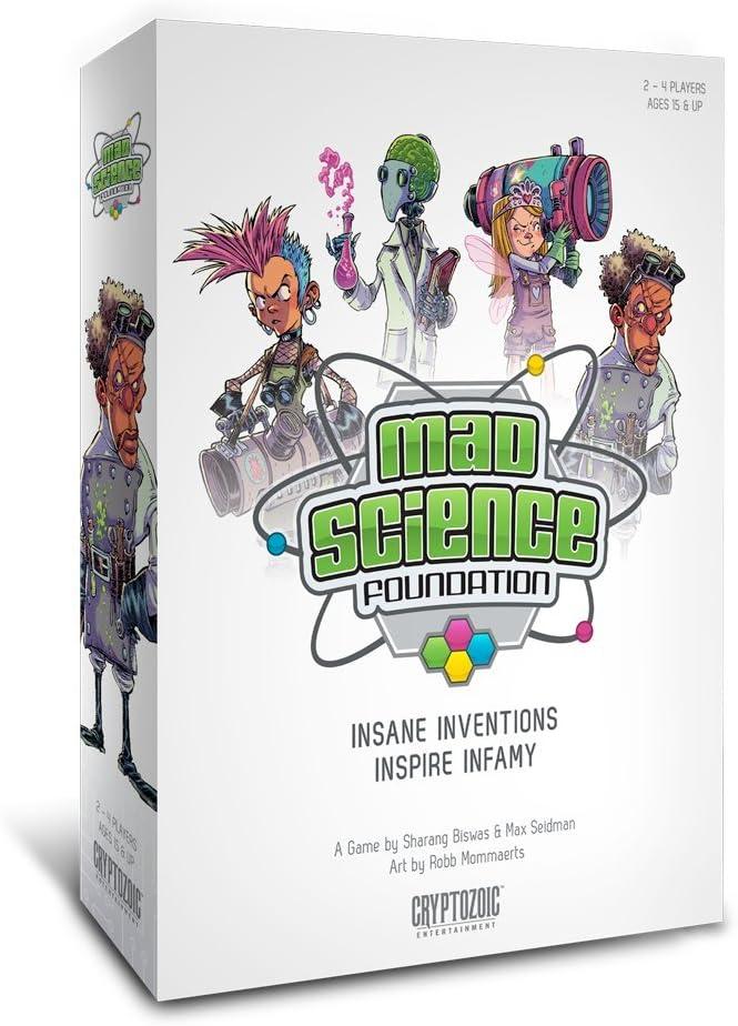 Cryptozoic Entertainment Mad Science Foundation Board Game: Amazon.es: Juguetes y juegos