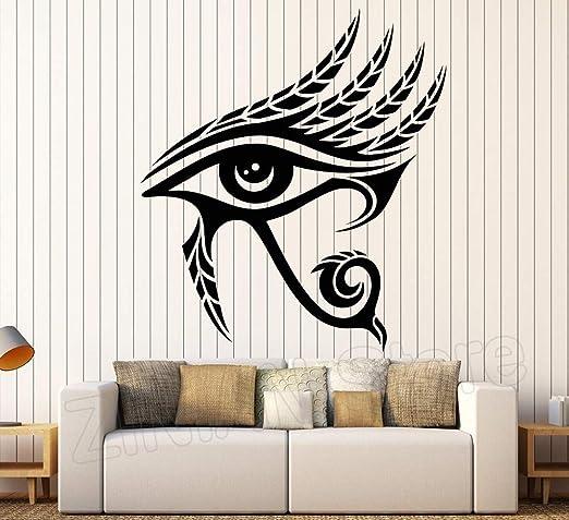 yiyitop Ojo de Horus Egipto Símbolo Arte de la Pared Tatuajes de ...