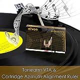 Nobsound LP Vinyl Tonearm VTA Cartridge Azimuth Alignment Ruler Headshell Alignment Block