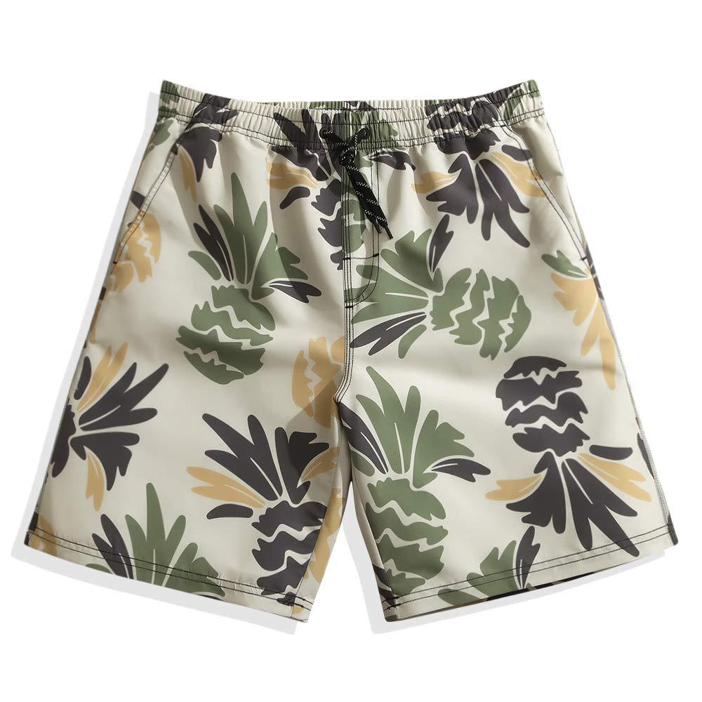 Mens Quick Dry Board Shorts Swim Trunks Pinapple