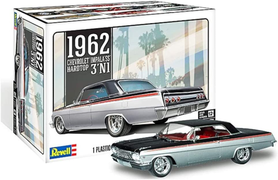 Amazon Com Revell 85 4466 1962 Chevrolet Impala Ss Model Car Kit 1 25 Scale Toys Games