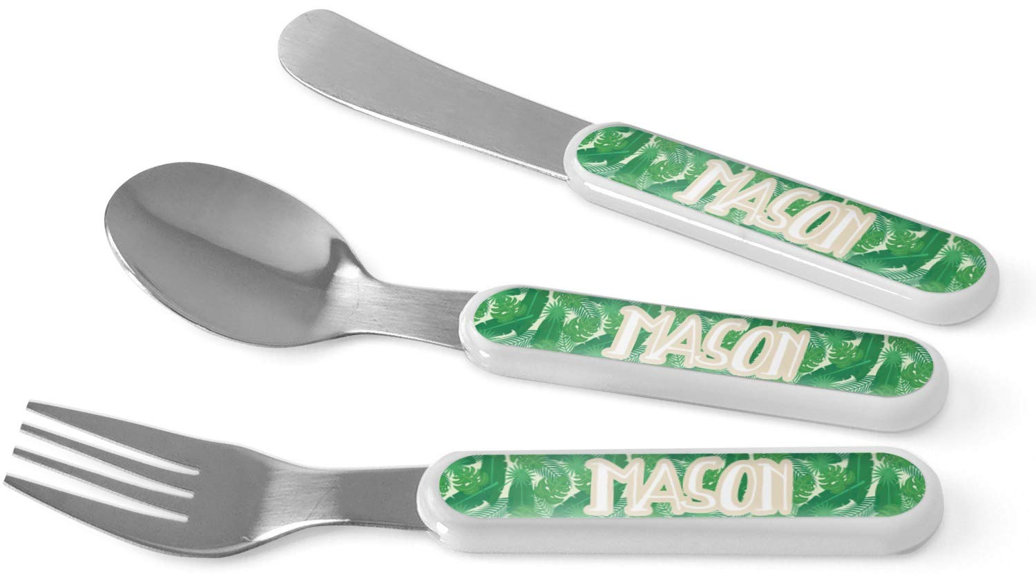 Tropical Leaves 2 Kid's Cutlery (Personalized)