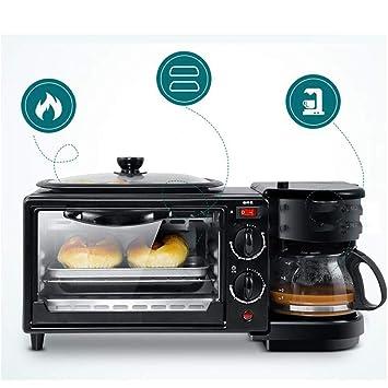 AA100 Multi-función del Horno de Punto Tres en uno máquina de Desayuno Tostador tostadora Horno de café: Amazon.es