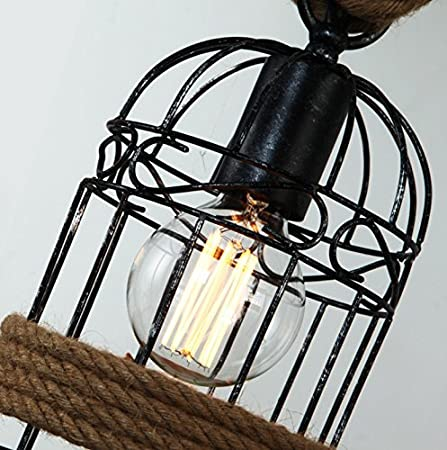 Loft Hemp Rope Chandeliers Industrial 3 Lights Rope ...