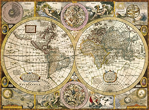Amazon old map 3000 piece jigsaw puzzle toys games sciox Choice Image