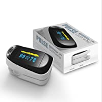 QUMOX Finger Fingertip Blood Oxygen Meter Pulse Heart Rate Monitor Oximeter H2 White