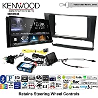 Volunteer Audio Kenwood DDX9704S Double Din Radio Install Kit with Apple Carplay Android Auto Fits 2006-2013 BMW 3 Series