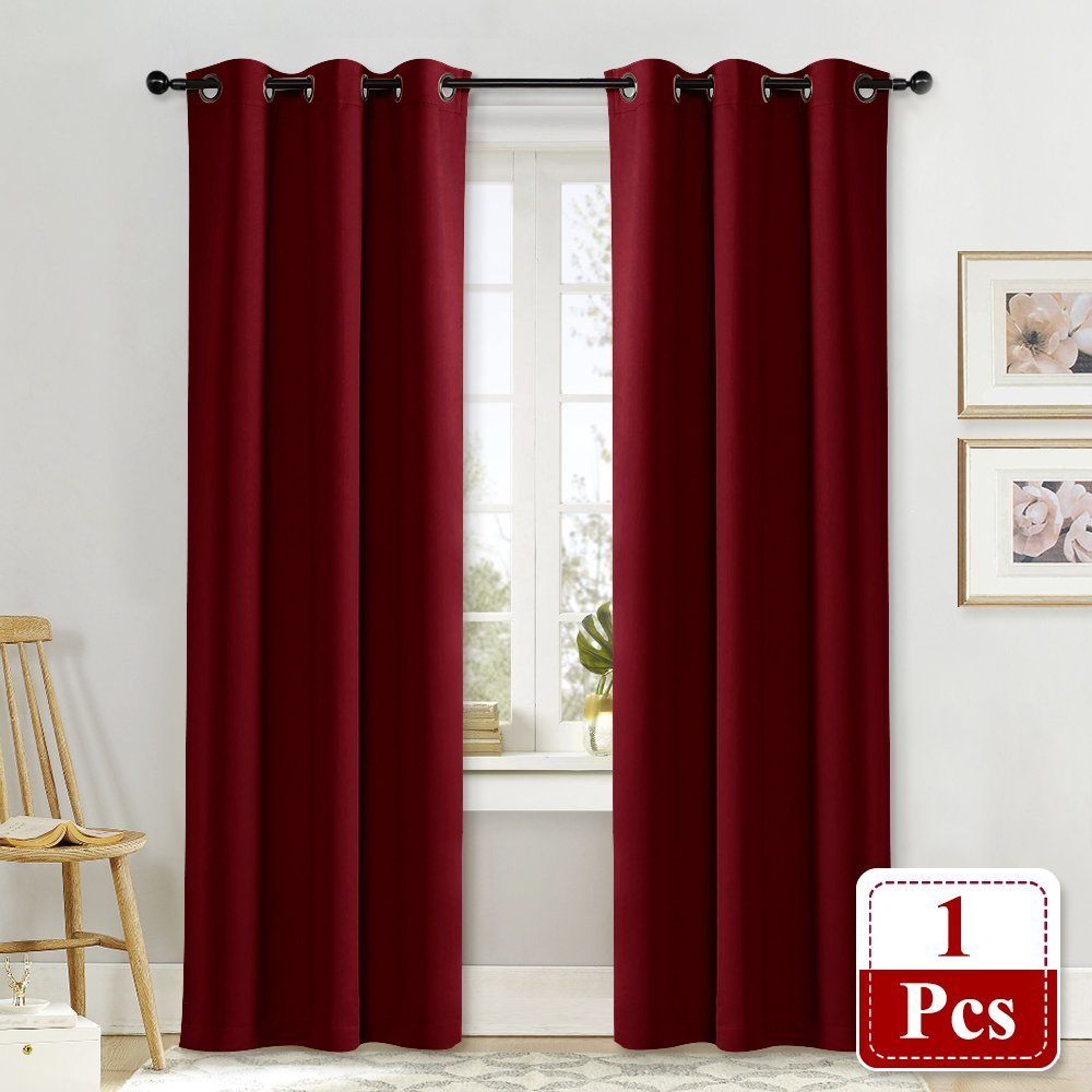 NICETOWN Room Darkeing Curtain for Girl's Room Nursery Essential Thermal Insulated Solid Grommet Top Window Treatment Drape (Lavender Pink=Baby Pink, Sold Individually, 42 x 63 Inch) NICETOWN_Blackout_Petit