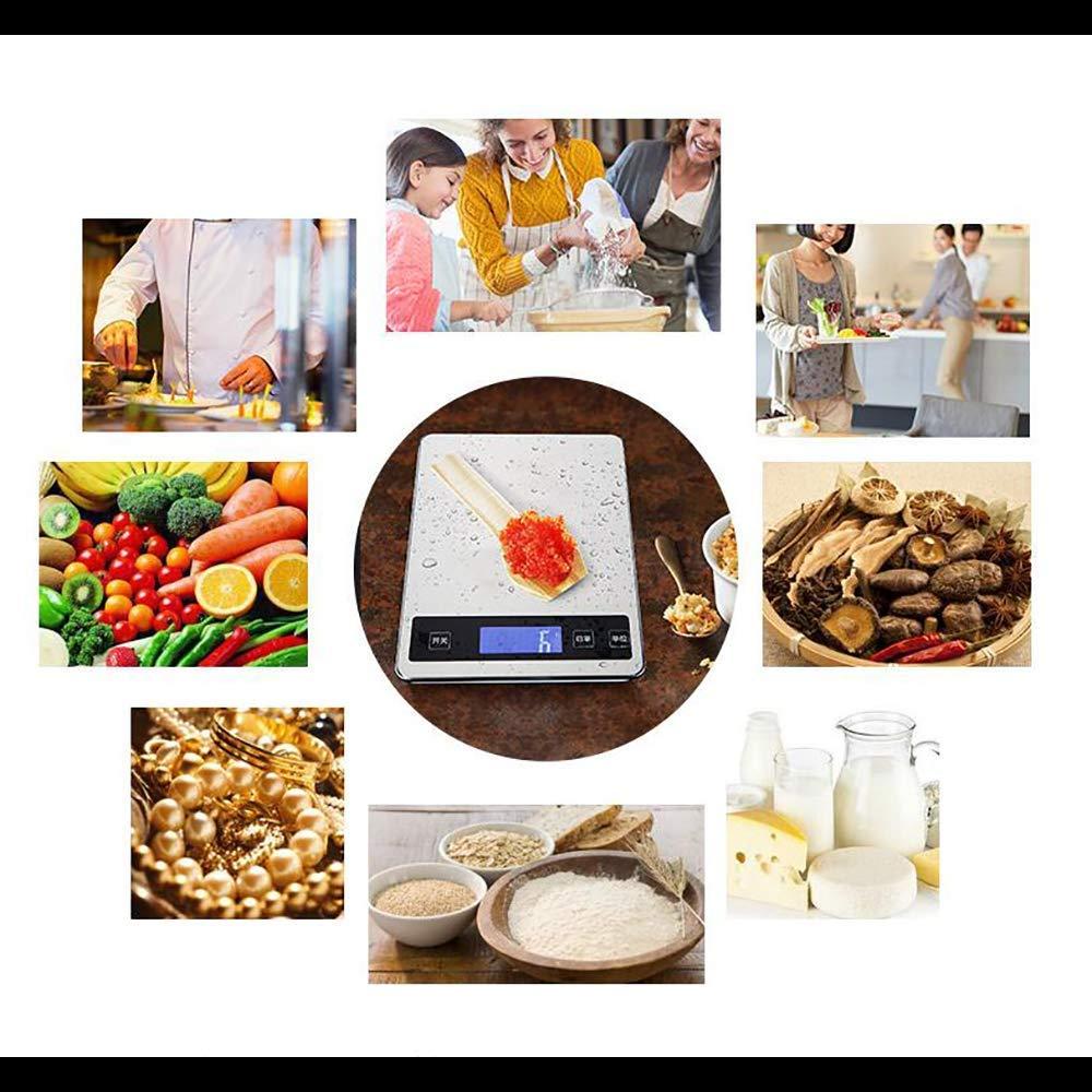 Balanza Electrónica De Cocina Digital (Cable USB + Alimentación De Baterías), Balanza Multifunción Para Alimentos 10 Kg: Amazon.es: Bricolaje y herramientas