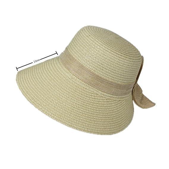 LAMEIDA Gorro de visera Sombrero de paja Sombrero de visera Gorro de sol  Sombrero plegable Ajustador Sombrero de pescador Pajarita Divisor Sombrilla  Visor ... 8bf4dc1d155