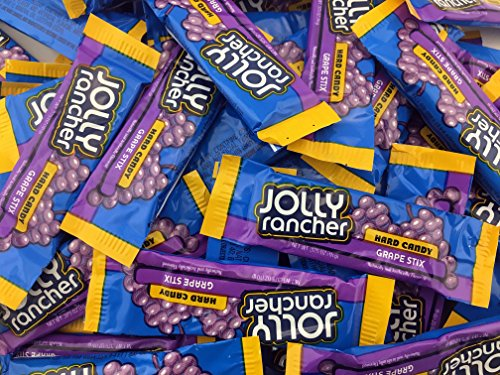 Jolly Rancher Hard Candy, Grape Stix (Pack of 2 Pounds)