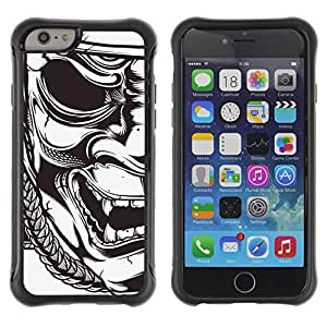 Paccase / Suave TPU GEL Caso Carcasa de Protección Funda para - mask Japanese samurai theatre art - Apple Iphone 6 PLUS 5.5