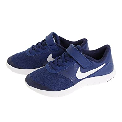 4209678cdbd6 Nike Kids Boy s Flex Contact (Little Kid) Gym Blue White Binary Blue