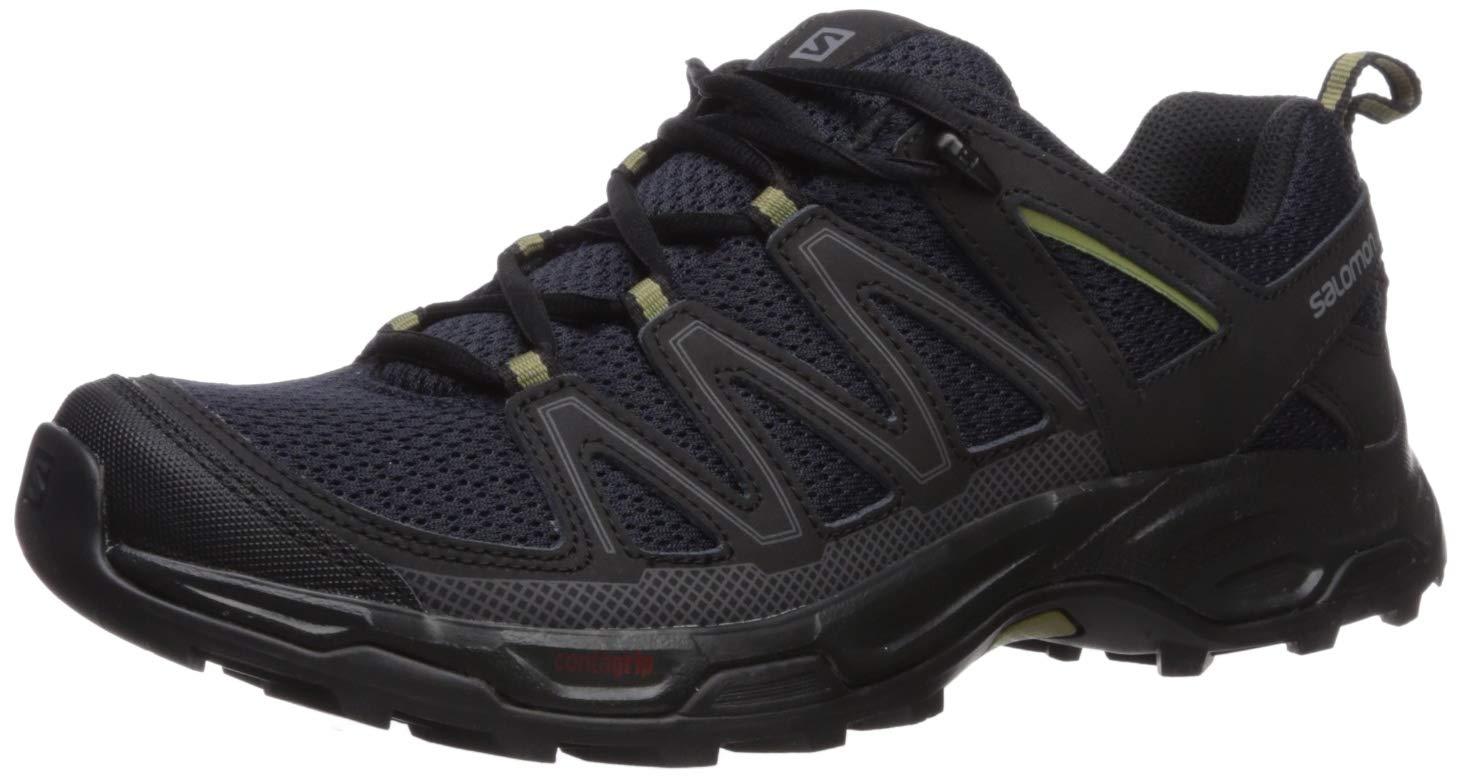 SALOMON Men's Pathfinder Hiking Shoes, Night Sky/Black/Military Olive, 10.5 by SALOMON