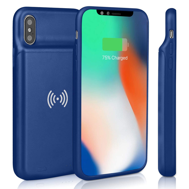 Coque de Chargeur de Batterie Externe Coque de Batterie Compatible avec iPhone X//XS /étui de Batterie de Secours Red Epuirie 3600 mAh Rechargeable Extensible pour iPhone X//XS avec Charge sans Fil