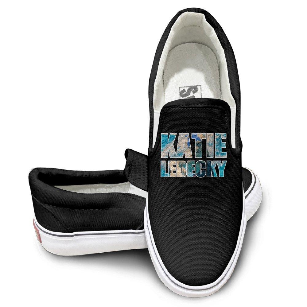 fc3b77ccda EWIED Unisex Classic Katie Ledecky Slip-On Shoes Black cheap ...