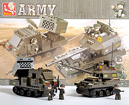 [M109 Paladin Artillery Tank and M270 MLRS Rocket Launcher Military Army Vehicles Lego Compatible] (Ww2 Navy Uniforms)