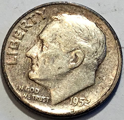 1952 Silver Dime - 1952 S Roosevelt Dime Choice Very Fine