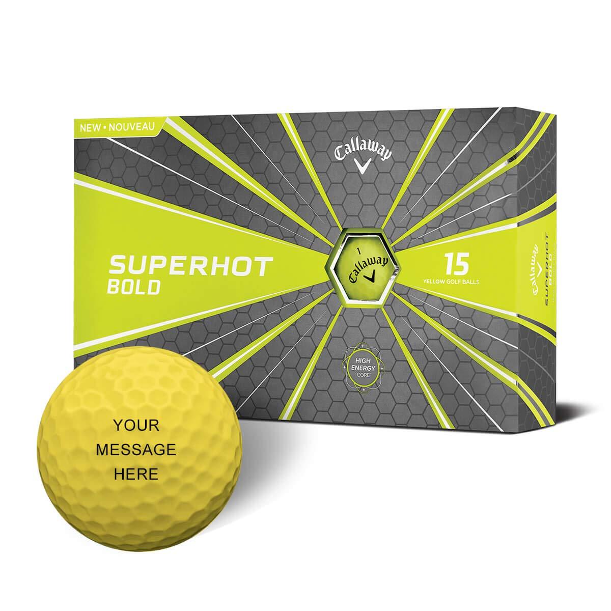 Callaway ゴルフ 2018 スーパーホット ボールド マットイエロー 15個パック パーソナライズゴルフボール B07P6MTB5N