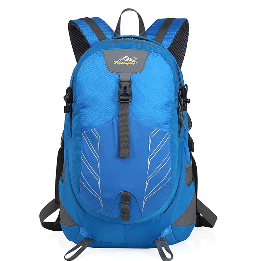 bluee 473327cm Outdoor Sports Backpack Large Capacity MultiFunction Fashion Casual Shoulder Bag Men and Women Travel Hiking Backpack 47  33  27cm (color   Navy bluee, Size   47  33  27cm)