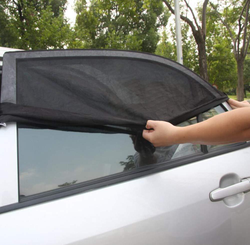 Cani Tende Zanzariera Traspirante Protegge dal Sole per i finestrini Laterali SunShadePro Coppia Tendine Parasole Auto Bambini Anti Raggi UV e Polvere Accessori oscuranti finestrini Auto