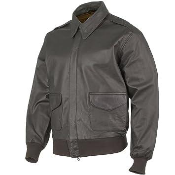 a4752fc32494c Mil-Tec A-2 Vuelo chaqueta de cuero Marrón  Amazon.es  Ropa y accesorios