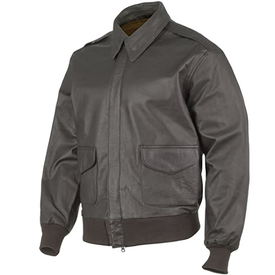 Mil-Tec A-2 Leather Flight Jacket Brown: Amazon.co.uk: Clothing