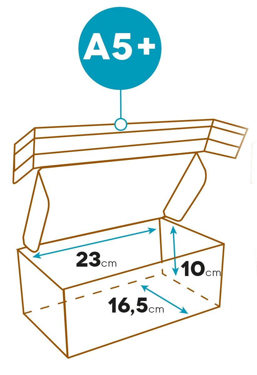 formato A4/+, color Kraft Blanc 31x22x1-5cm Elba 400079260/Pack de 10/cajas de env/ío cart/ón ondulado reciclado