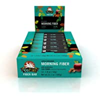 Apple-Cinnamon High Fibre Breakfast Bars. Low Sugar, Gluten Free, Nut Free, Soy Free, Dairy Free (Vegan), Non-GMO. With Probiotics & Prebiotics for Healthy Digestion (12 Pack)