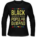 4be25cf12e03 Aime Vidal Black By Popular Demand Women's Long-Sleeves CrewNeck 100%  Cotton T-