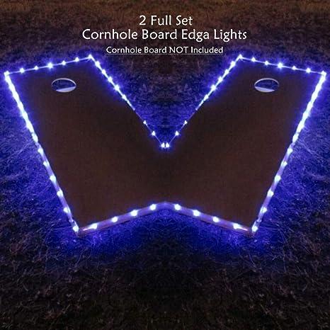 Cornhole Lights 2 White LED Bright Bean Bag Board Night Lights Free Shipping!