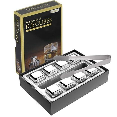 Amazon.com: Kollea - Cubitos de hielo reutilizables para ...