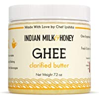 Indian Milk & Honey Co. Ghee Butter, No GMOs, Original Ghee, 1-Pack (7.2 oz)