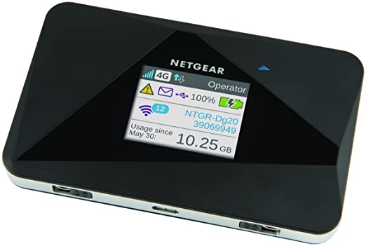 245 opinioni per Netgear AC785-100EUS Router Mobile, 4G LTE, 150 Mbps, Dual Band, Wi-Fi N600,