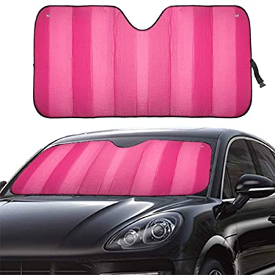 """MCBUTY Windshield Sun Shade for Car Pink Thicken 5-Layer UV Reflector Auto Front Window Sunshade Visor Shield Cover and Keep Your Vehicle Cool(55"""" × 27.5""""): Automotive"""