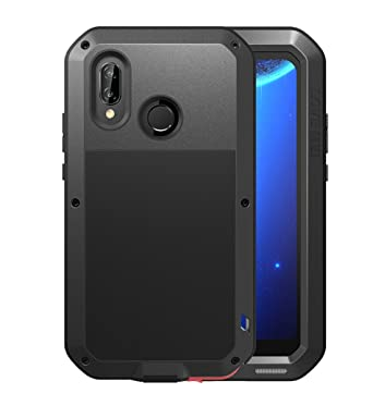 on sale eb992 ce3a9 Huawei P20 Lite Waterproof Case, Love Mei Military Shockproof  Dust/Dirt/Snow Proof Aluminum Metal Protective Case Cover for Huawei P20  Lite/Nova 3e ...
