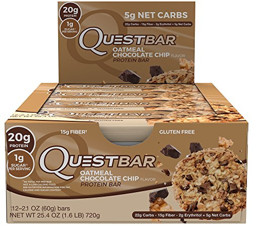 Quest Nutrition Proteina Bar, Oatmeal Chocolate Chip, 12 bars - 2.1 oz each