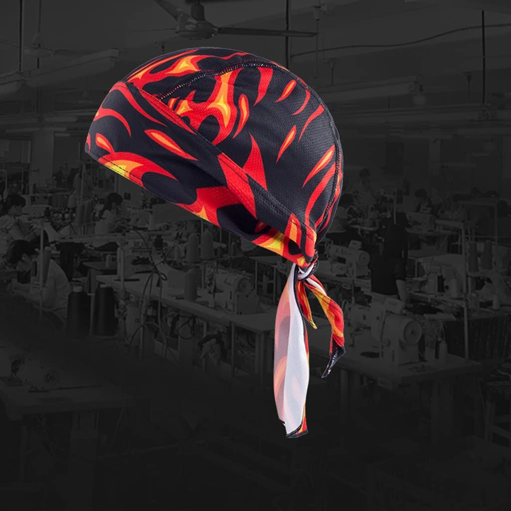 Motorcycle Bike Head Wrap Hat Pirate Scarf Scooter Biker Windproof Cycling Skull Cap Hat 2 Pieces
