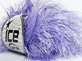 Light Lilac Extra Long Eyelash Yarn Ice Luxurious Fun Fur 50gr 38yds