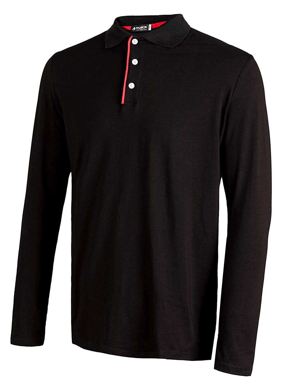 Amazon Musen Men Long Sleeve Polo Shirts Cotton Classic Fit T